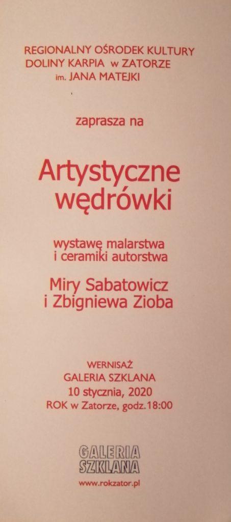 Artystyczne Wędrówki - Zaproszenie