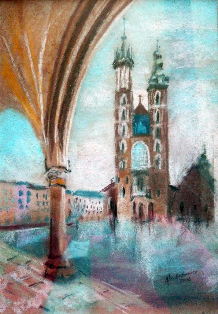 Kościół Mariacki pastel